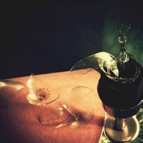 a broken lampbulb creativity