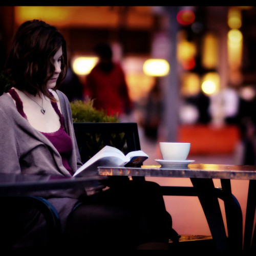 woman reading a book creativity