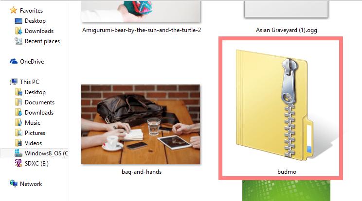 zip file of a desktop font