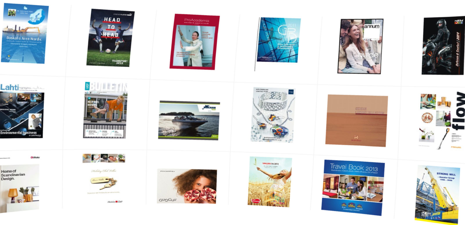 Expose your content! Showcase all your publications online on a gallery page or bookshelf!